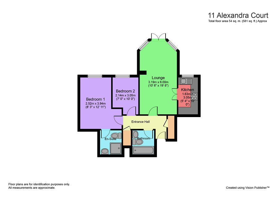 Floorplan of Alexandra Court, Penarth, CF64 3LA