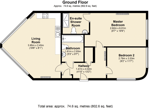 Floorplan of Headlands, Hayes Street, Sully, Vale Of Glamorgan, CF64 5QH