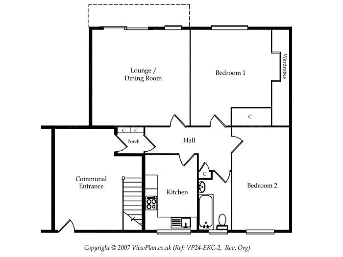 Floorplan of Uppercliff Close, Penarth, CF64 1BE