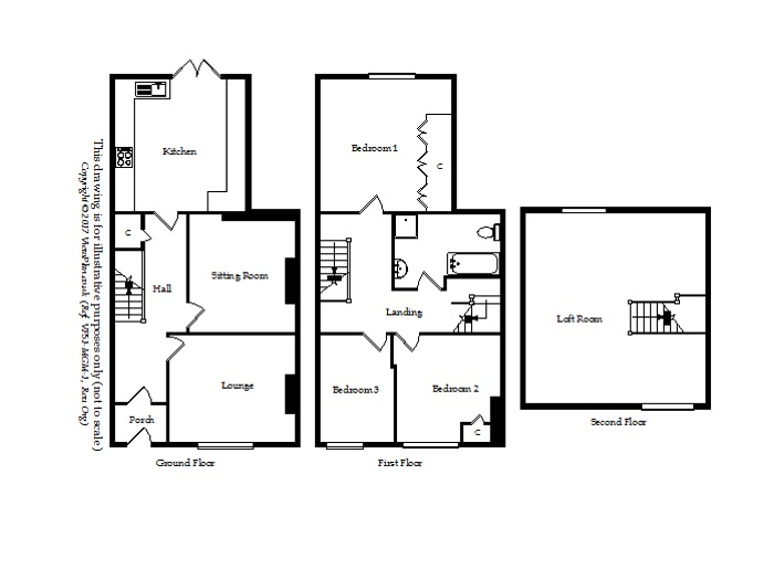 Floorplan of Queens Road, Penarth, CF64 1DL