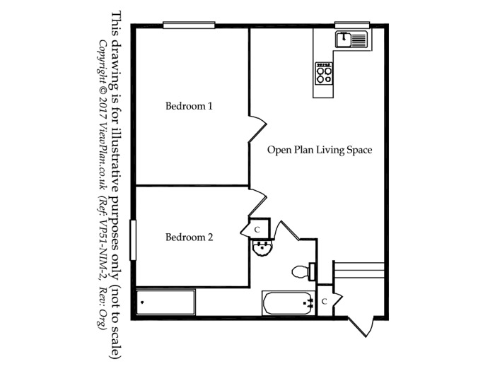 Floorplan of Stanwell Road, Penarth, CF64 3LR