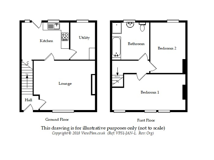 Floorplan of Andrew Road, Cogan, Penarth, CF64 2NT