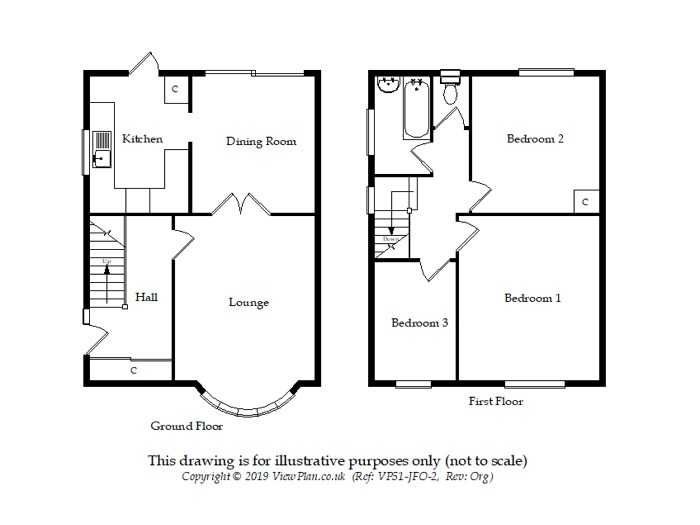 Floorplan of Norris Close, Penarth, CF64 2QW